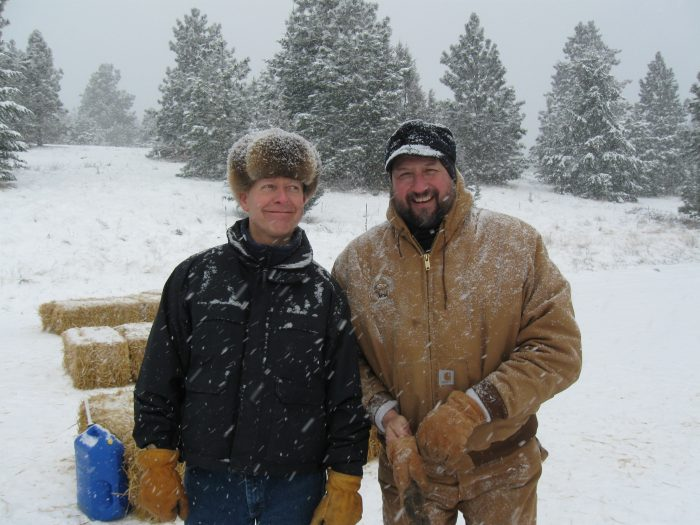 Dale Becker and Jim Williams Sheep Trapping